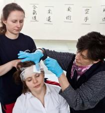 Zaopatrywanie urazów głowy