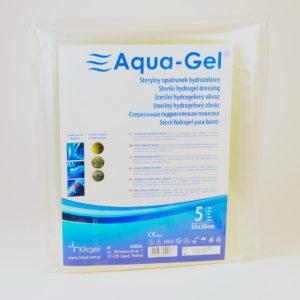 AQUA GEL-hydrożel na trudno gojące się rany 22×28 cm- 5 szt.