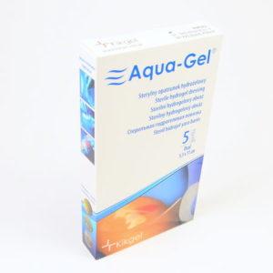 AQUA GEL-hydrożel na rany i poparzenia-owal 5,5×11 cm -5 szt.